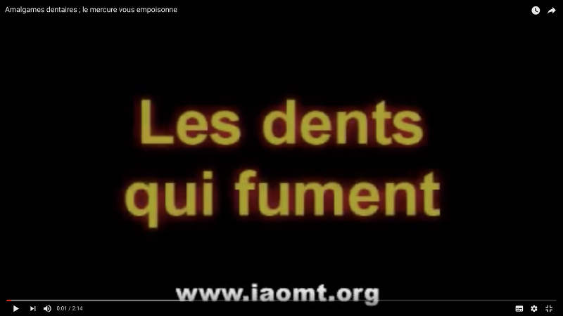 L'IAOMT, association internationale de chirurgiens dentistes conscients de la toxicité des amalgames dentaire www.iaomt.org